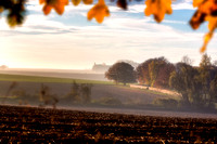 Waterloo Battlefield in autumn